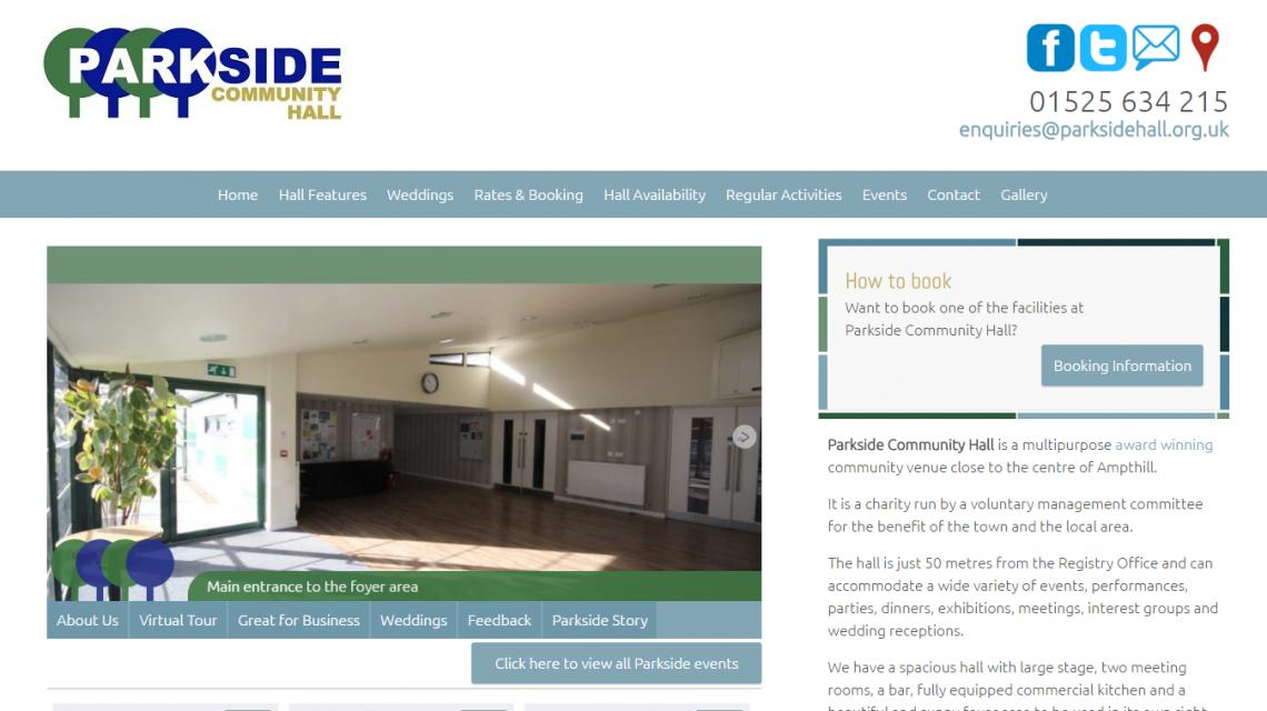 Parkside Community Hall Website