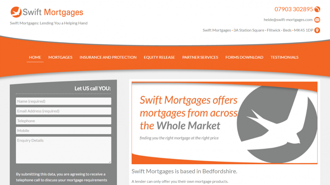Swift Mortgages Homepage