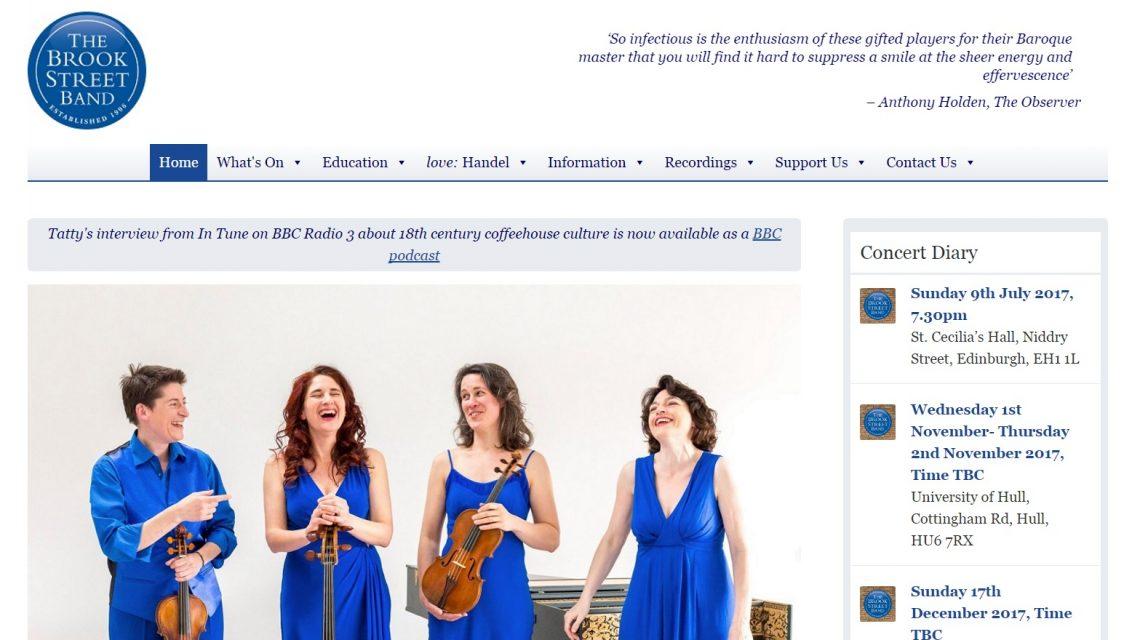 The Brook Street Band Website