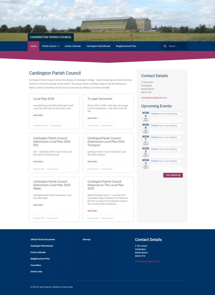 Cardington Parish Council Website