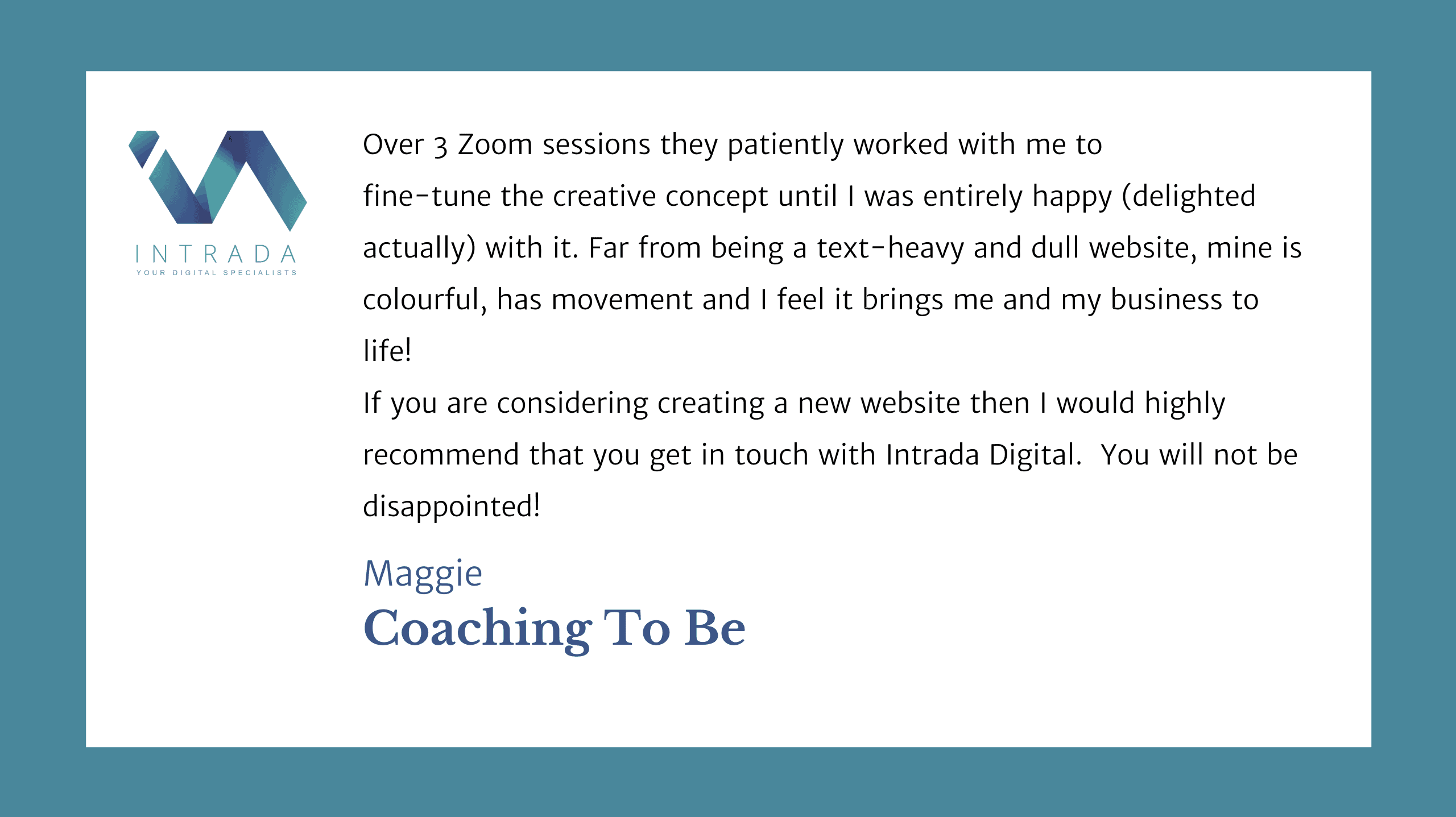 Coaching To Be Testimonial
